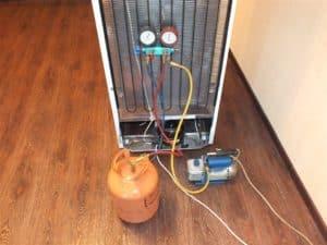 Заправка холодильника фреоном